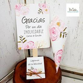 Pack 3 pizas flores dulces (pai pai, cono y lágrima de la felicidad)