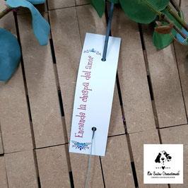 Bengala + cartón flores azules rectangular
