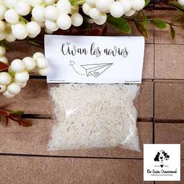 Bolsita de arroz temática viajera