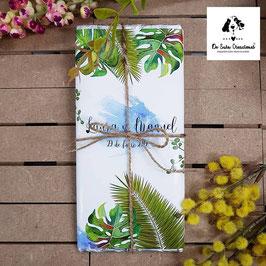 Tableta de chocolate tropical