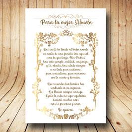 Diploma marco dorado