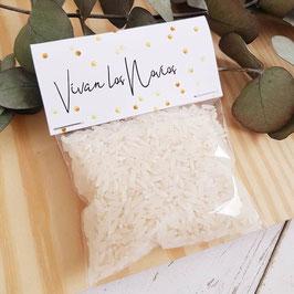 Bolsa de arroz colección topos dorados