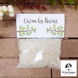 Bolsita de arroz hojas verdes