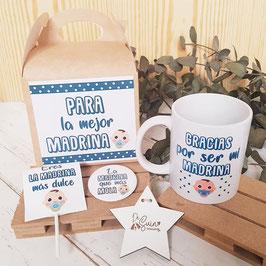 kit bautizo bebé para madrina ¿Gracias por ser? CAAS/CH/TAZ/PIR/