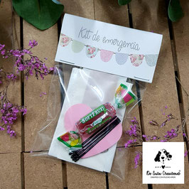 Kit de emergencia banderines pastel