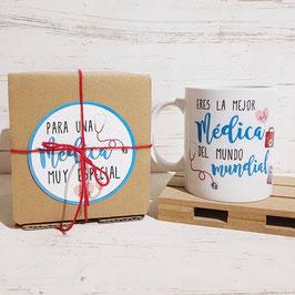 Caja con taza para medico