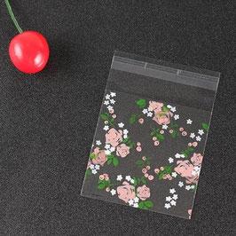 Bolsa de celofán flores paquete de 10 unidades