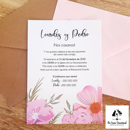Invitación Daniela rosa