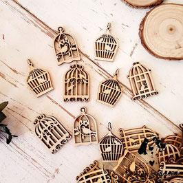 Pack de 5 jaulas de madera para decorar en manualidades