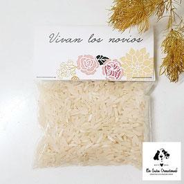 Bolsita de arroz modelo corona