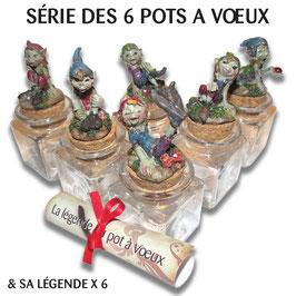 Série de 6 Pots à Vœux