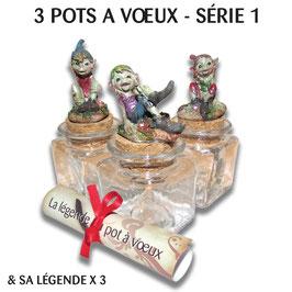 """3 Pots à Vœux """"Série 1"""""""