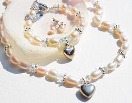 Geschenkset Infinity white - mit Herzchen