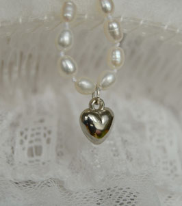 "Damenarmband ""Pearl""- mit Herz"
