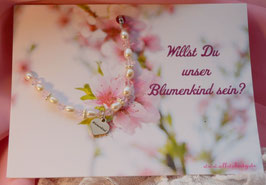 "Infinity ""Blumenkind"" Armband mit Karte"