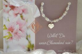 "Blumenkind Armband ""Infinity white Blumenkind"""