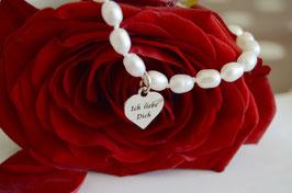 """Damenarmband """"Pearl""""- Ich liebe Dich"""