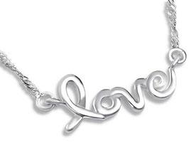 """Kette """"Love"""" - Sterling Silber für Damen"""
