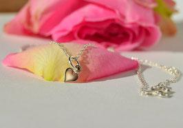 """Mädchenkette """"lovely"""" - echt Silber"""
