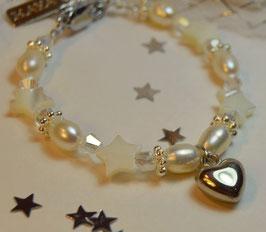 """Mädchen Armband """"Stella white"""" - Herzchen"""