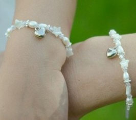 """Mom&Me Armbandset """"Stella white"""" - Herzchen"""