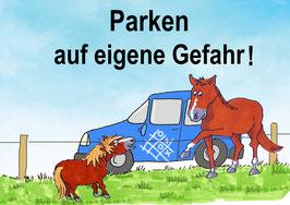 Stallschild Parkplatz