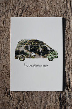 Postkarte: Let the adventure begin
