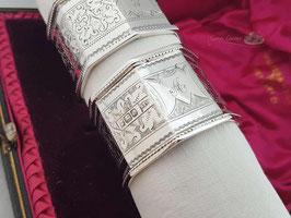 Antike Silber Serviettenringe WH1