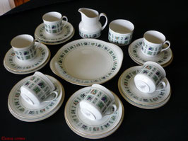 21 tlg Englisches Porzellan Teeservice
