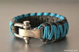 "Paracord Survival Armband, Samy ""Double Light"""