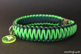 "Paracord Survival Halsband, Grasshopper ""Double"""