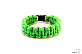 "Paracord Survival Armband, Neon Green ""Single"""