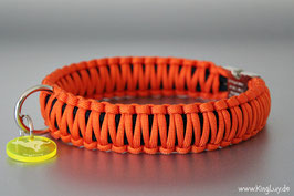 "Paracord Survival Halsband, Oranje ""Double"""