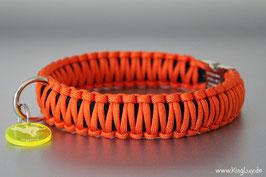 "Paracord Survival Halsband, Oranje ""Double"""
