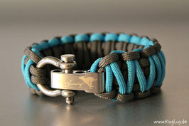"Paracord Survival Armband, Samy ""Double"""