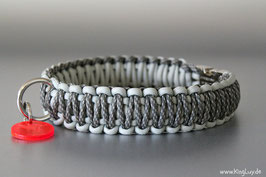 "Paracord Survival Halsband, Silver Surfer ""Double"""