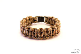 "Paracord Survival Armband, Desert Camo ""Single"""