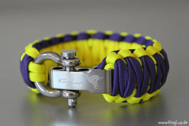 "Paracord Survival Armband, Violet Sun ""Double Light"""