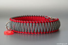 "Paracord Survival Halsband, Red Passion ""Triple"""