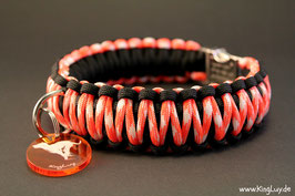 "Paracord Survival Halsband, Sicle Cross ""Double"""