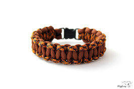 "Paracord Survival Armband, Brown/Leopard ""Single"""