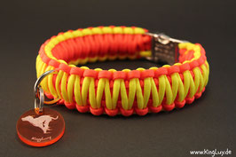 "Paracord Survival Halsband, Sunshine ""Double"""