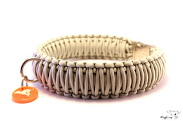 "Paracord Survival Halsband, Silver ""Triple"""
