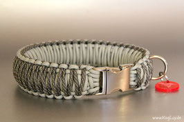 "Paracord Survival Halsband, Silver Surfer ""Triple"""