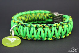 "Paracord Survival Halsband, Green Hornet ""Double"""