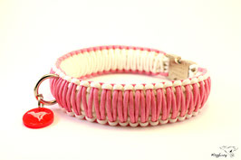 "Paracord Survival Halsband, Pink Panter ""Triple"""