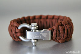 "Paracord Survival Armband, Chocolate ""Double"""