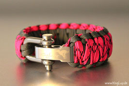 "Paracord Survival Armband, Tinker Bell ""Double Light"""