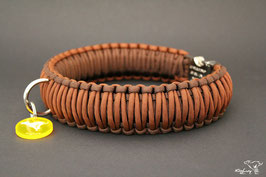 "Paracord Survival Halsband, Chocolate ""Triple"""