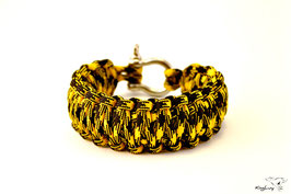 "Paracord Survival Armband, Bumble Bee ""Double"""